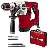 Einhell Bohrhammer TE-RH 32 4F Kit (1250 W, 5.0 Joule, 32 mm Bohrleistung in Beton, SDS-Plus, Anti-Vibrationsgriff, inkl. E-Box, 3 Bohrer, Spitzz- und Flachmeißel)